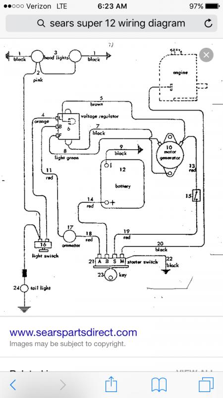 Sears 1967 Super 12 Electrical Help, Sears Craftsman Riding Lawn Mower Wiring Diagram