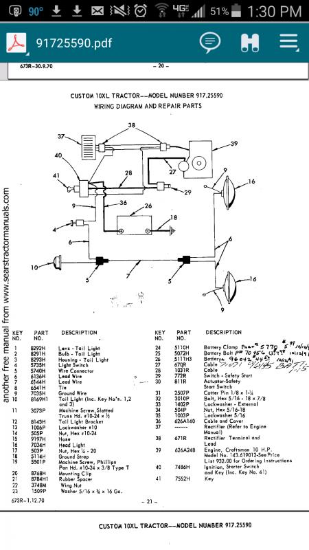 Need Help With 71 10xl Wiring Garden, Craftsman Garden Tractor Wiring Diagram